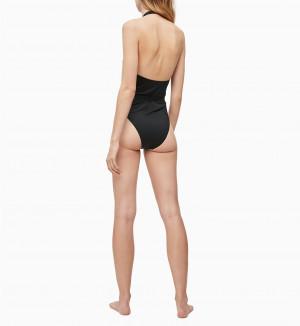 Jednodílné plavky KW0KW00807-BEH černá - Calvin Klein černá