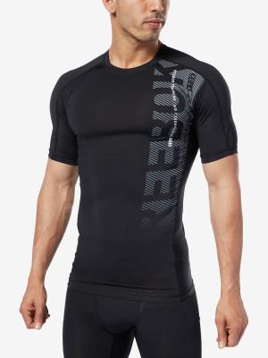 Kompresní tričko Reebok Ost Ss Graphic Comp Tee Černá