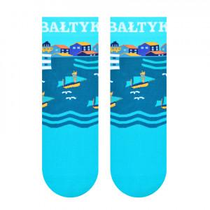 Dámské ponožky s nápisem BAŁTYK (Baltské moře) 006 tyrkysová 35-37