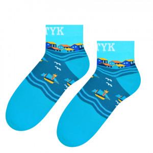 Pánské ponožky s nápisem BAŁTYK (Baltské moře) 006 tyrkysová 44-46