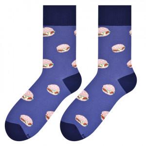 Pánské vzorované ponožky 079  jeans 39-42