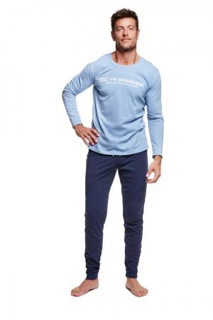Pánské pyžamo WISE 37310 modrá-tmavě modrá