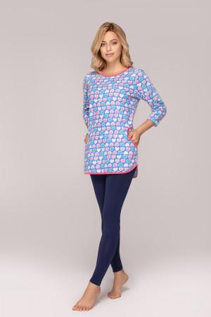 Dámské pyžamo Regina 905 3/4 2XL tmavě modrá