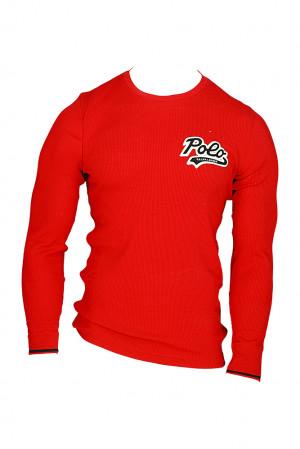 Pánské pyžamové tričko 714754014003 červená - Ralph Lauren červená