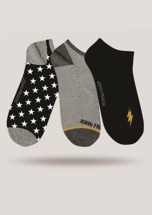 Pánské ponožky John Frank JF3SS18S17 3PACK  UNI Dle obrázku
