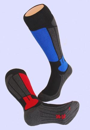Anatomicky tvarované ponožky Ulpio Hot Socks Ski šedá-červená 35-38