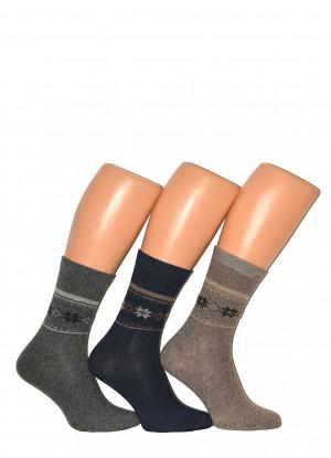 Pánské ponožky Ulpio GNG 8788 Thermo Wool mix barev-mix vzorů 39-42