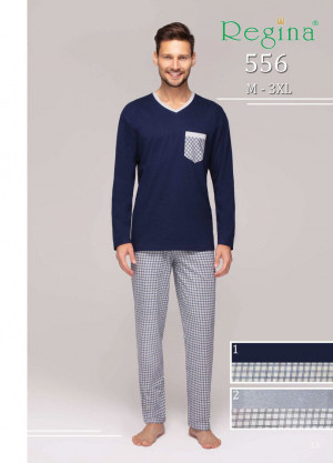 Pánské pyžamo 556  BIG žíhaná 2XL