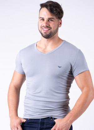Pánské tričko Emporio Armani 111512 CC717  L Šedá