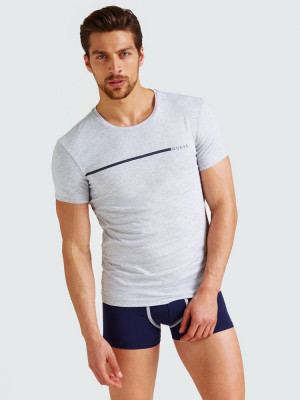 Pánské tričko 2pcs U92G10JR00A-HE90 bílošedá - Guess bílo-šedá 2XL