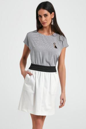 Dámská sukně 250088 - Ennywear bílo-černá
