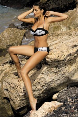 Dámské plavky Claire M - 201 - Marko černo - bílá