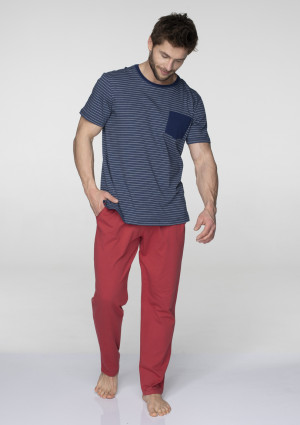 Pánské pyžamo MNS 385 B19 tmavě modrá