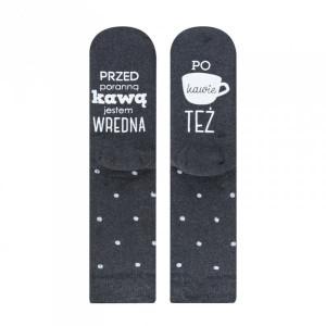 Soxo Froté ponožky se životními radami a pravdami 35-40 grafitová (tmavě šedá)
