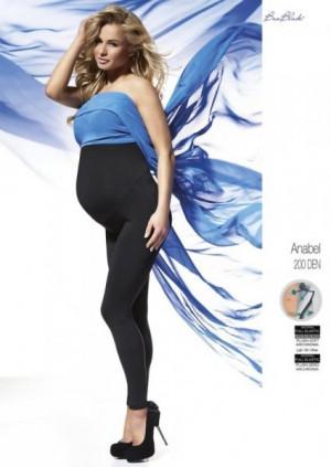 Bas Bleu Anabel těhotenské  200 den Polar Leginy 2-S black/czarny
