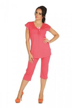 De Lafanse Visa 889 Plus Dámské pyžamo 4XL červená