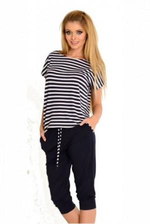 De Lafense 540 Jovite Dámské pyžamo XL Bílá-Šedá