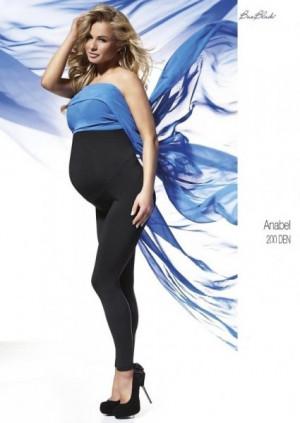 Bas Bleu Anabel těhotenské  200 den Leginy 3-M black/czarny
