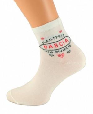 Bratex Classic Dla Babci ponožky  39-41 czarny-mix wzór