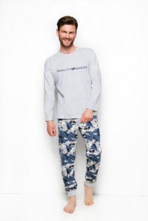 Taro Miloš 2256 Pánské pyžamo XL šedá