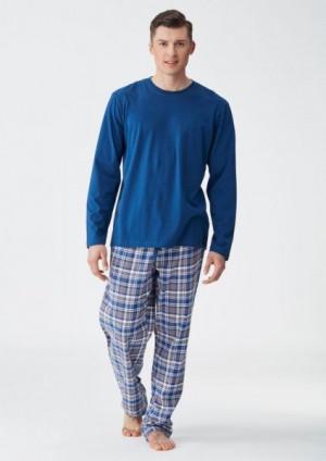Key MNS 405 B8 Pánské pyžamo XXL jeans-kratka