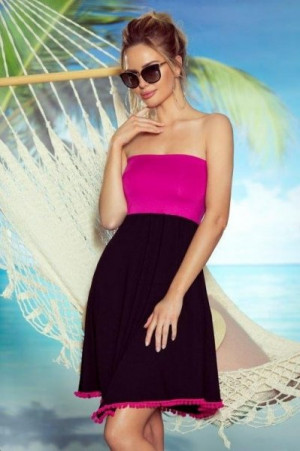 Eldar First Lady Sandy plážová tunika L/XL czarny-biały