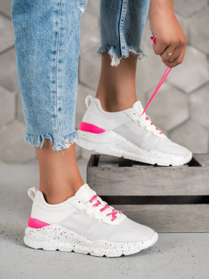 Trendy dámské  tenisky bílé bez podpatku