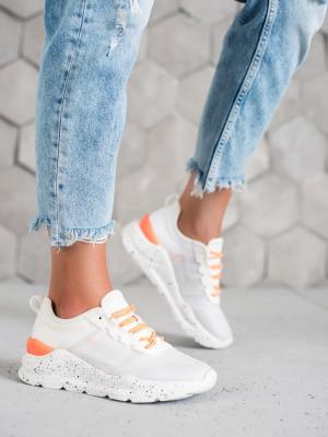 Luxusní  tenisky dámské bílé bez podpatku