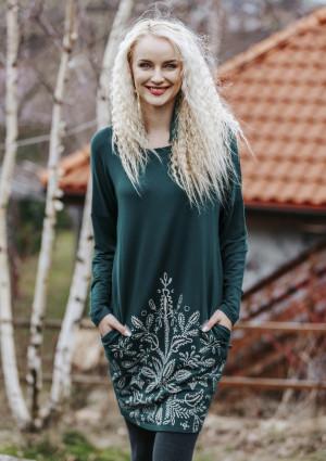 Dámské šaty - noční košile LHD 802 B19 zelená 2XL
