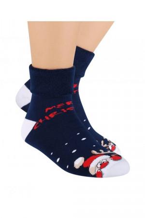 Dámské sváteční ponožky Steven art.030 červená 35-37