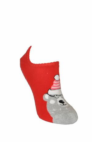 Dámské kotníkové ponožky Steven Frotte ABS Sváteční art.132 červená 35-37