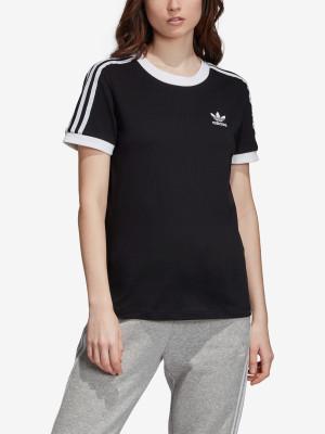 Tričko adidas Originals 3 Str Tee Černá