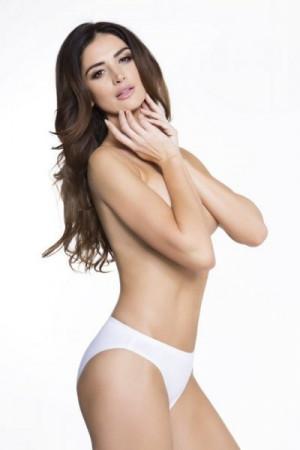 Julimex Cotton Hi-cut bílé Kalhotky XXL bílá