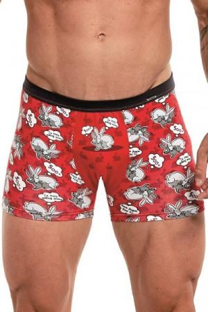Cornette Tattoo 500+ 280/174 Pánské boxerky S červená