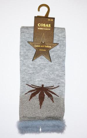 Ponožky Cosas 015-03 Lístek  bordó 39-41