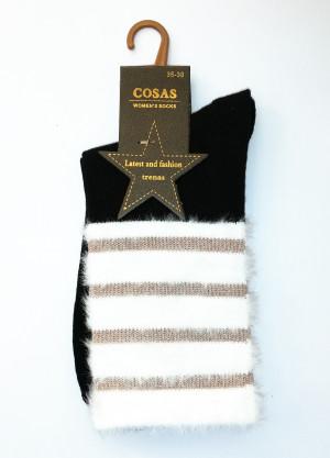 Ponožky Cosas 015-02 Proužky  bordó 35-38