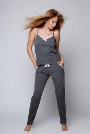 Sensis Evelyne Dámské pyžamo M grafitová (tmavě šedá)