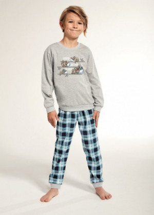 Cornette 966/98 Young Koala 134-164 pyžamo  158-164 melanž