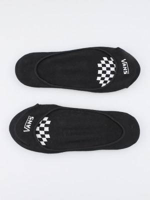 Ponožky Vans Wm Girly No Show 6.5 White/Black Černá