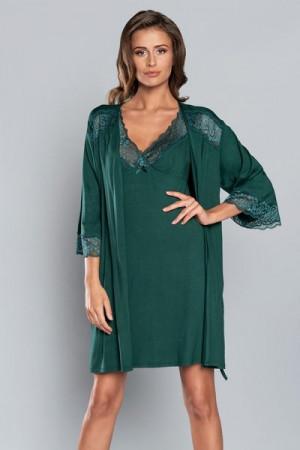 Italian Fashion Samaria r.3/4  Dámský župan L zelená