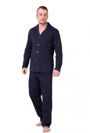Pánské pyžamo ROGER tmavě modrá 2XL