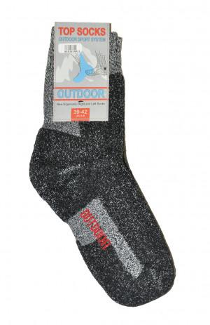 Pánské ponožky WiK Outdoor Top Socks 16140 černá žíhaná 35-38