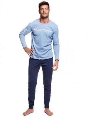 Henderson 37310 Wise Pánské pyžamo M světle modrá-tmavě modrá