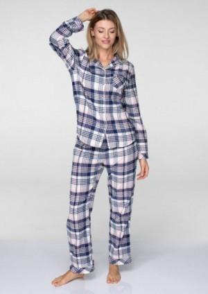 Key LNS 406 B19 Dánské pyžamo L tmavě modrá-světle růžová