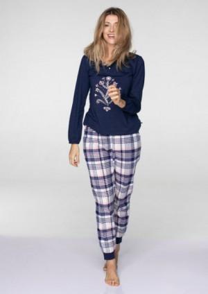 Key LNS 413 B19 Dámské pyžamo S tmavě modrá-světle růžová