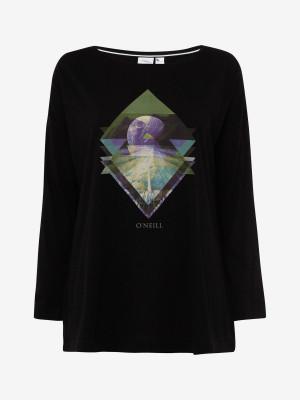 Tričko O´Neill Lw Kalani L/Slv T-Shirt Černá