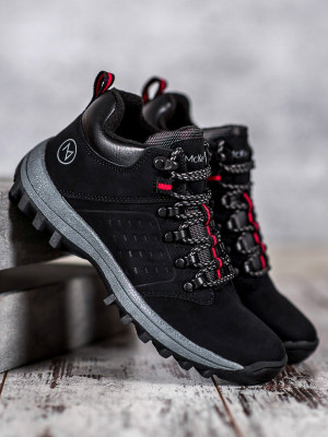 Trendy černé dámské  kotníčkové boty bez podpatku