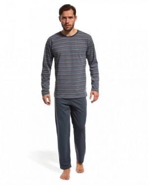 Cornette 138/11 Pánské pyžamo L grafitová (tmavě šedá)