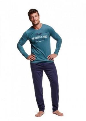 Henderson 37305  Woody pánské pyžamo M zelená-tmavě modrá