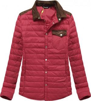 Červená prošívaná bunda s límcem (X69LJX) červená